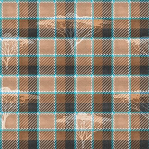 Wild Tartan Background (Tan)