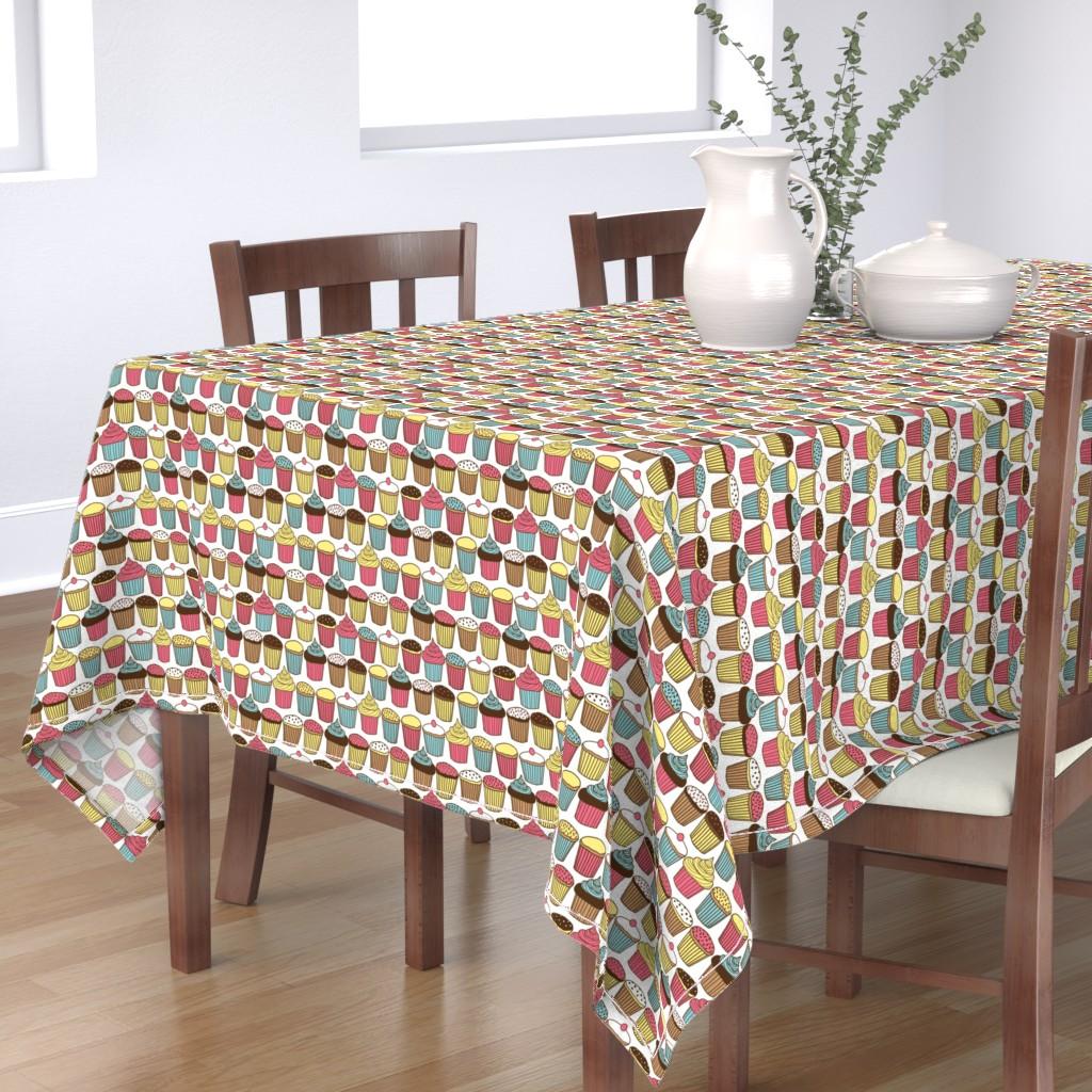 Bantam Rectangular Tablecloth featuring Cupcake by lydia_meiying