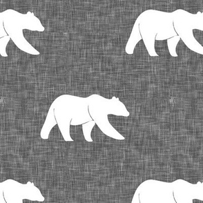 bear on linen (large scale) || the lumberjack collection