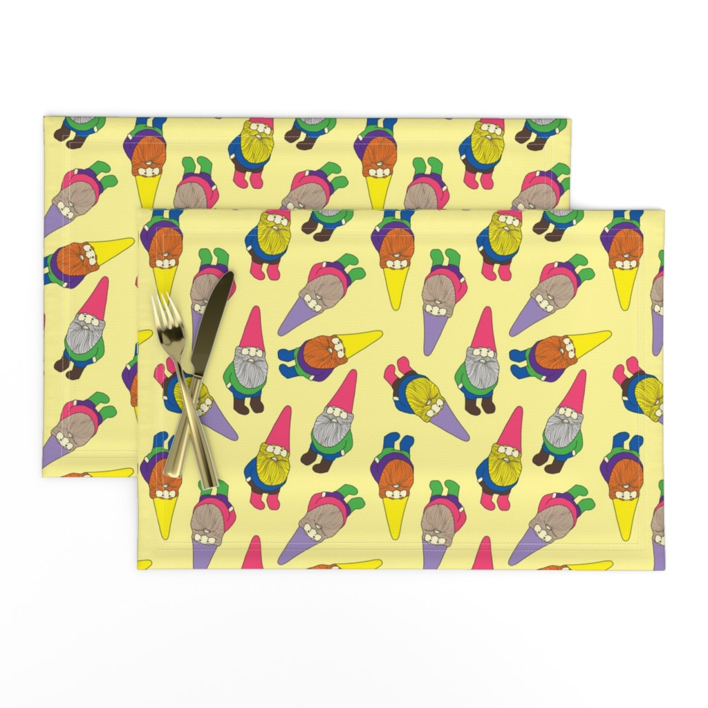 Lamona Cloth Placemats featuring Garden Gnomes by lydia_meiying