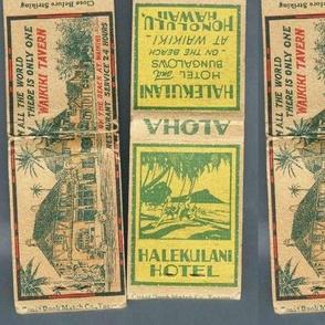 Visit Beautiful Hawaii 1920s matchbooks
