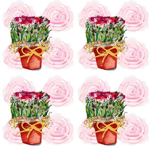 The Rose Shoppe of watercolor roses