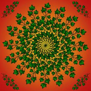 """54"""" Ivy Green Dress Round"""