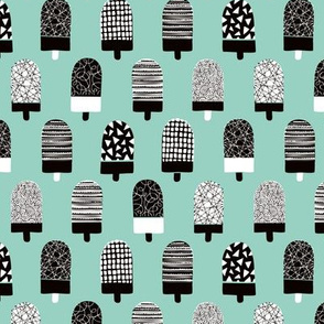 Scandinavian popsicle ice cream summer illustration pattern mint boys