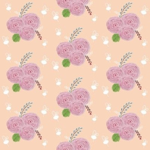Pink and Peach Floral