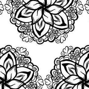 Project 68 | Black and White Floral