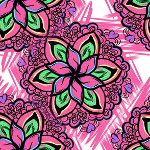 Project 68.1 | Bohemian Flora | Hot Pink Flowers