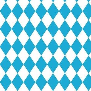 German Oktoberfest Beer Blue Diamond Pattern