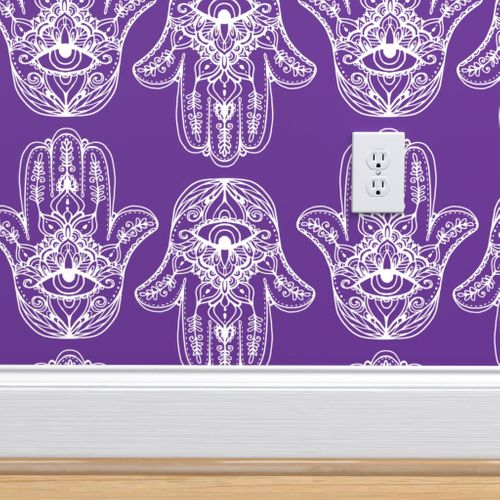 Wallpaper Indian Henna Design Purple Indian Henna Design Purple Hamsa Hand Of Fatima