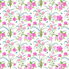 Baby_Flowers_Bluebells-Watercolor_Floral Pink_Blue