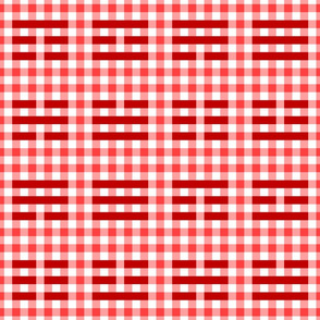 05563465 © i-ching gingham thing : red