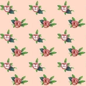 Pansy Dot_Peach_Dark Peach_Bunny Picnic