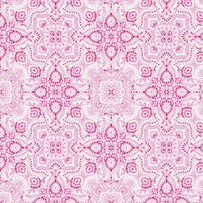 Mosaic Bandana - small - Pink & White