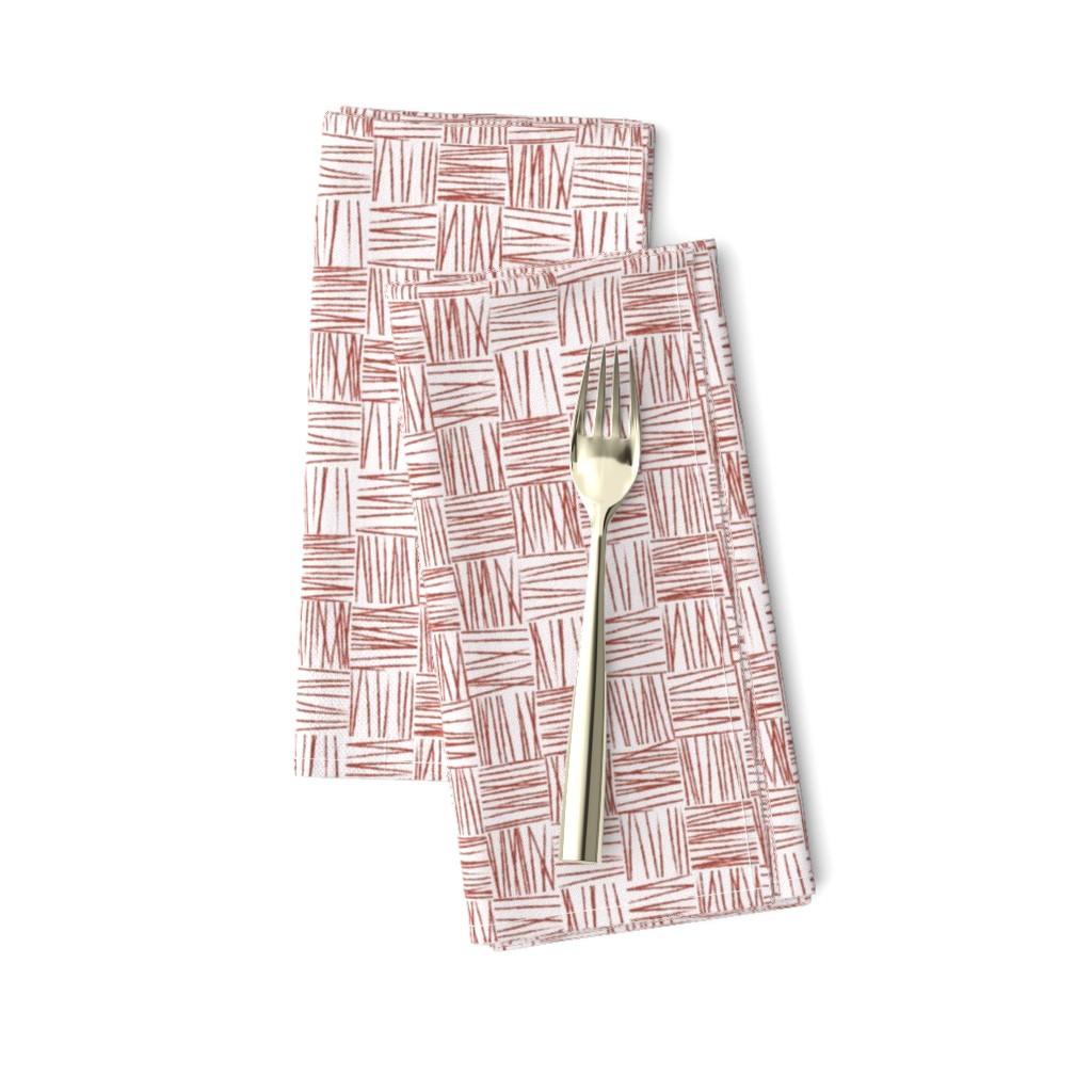 Amarela Dinner Napkins featuring Chalk Blocks (red) by studiofibonacci