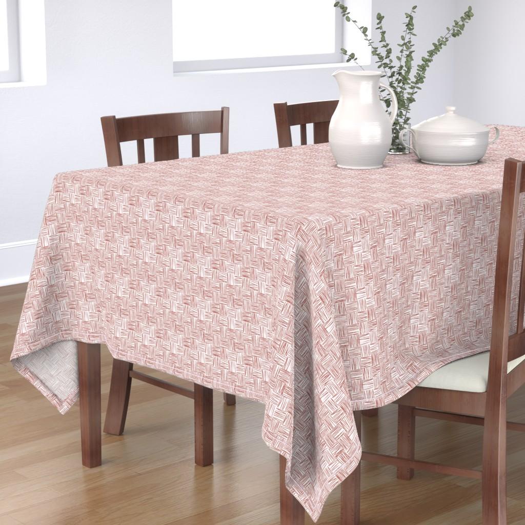 Bantam Rectangular Tablecloth featuring Chalk Blocks (red) by studiofibonacci