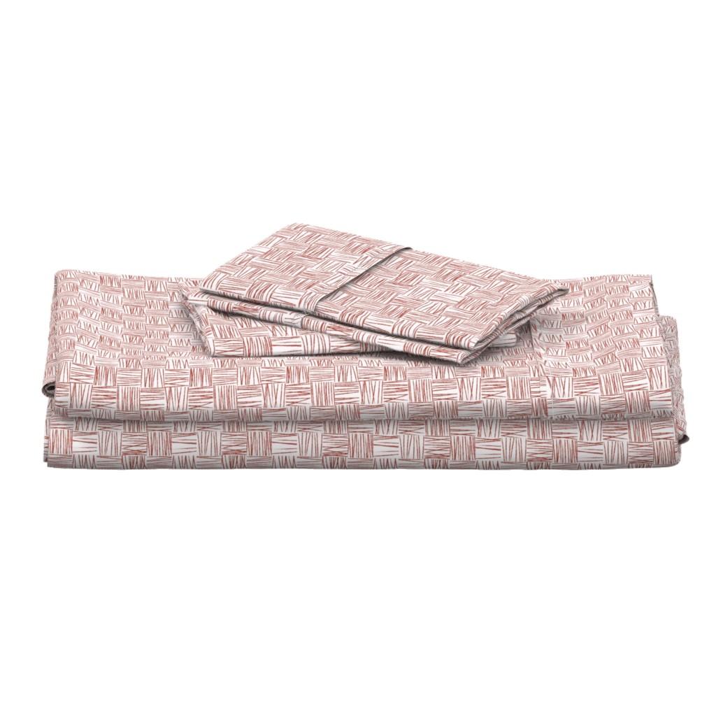 Langshan Full Bed Set featuring Chalk Blocks (red) by studiofibonacci