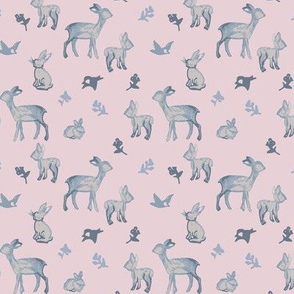 WOODLAND FRIENDS PINK