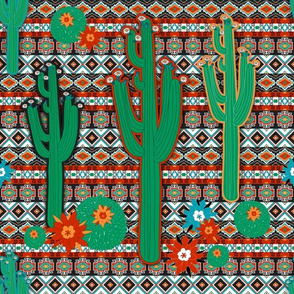 Southwest Floral Cactus