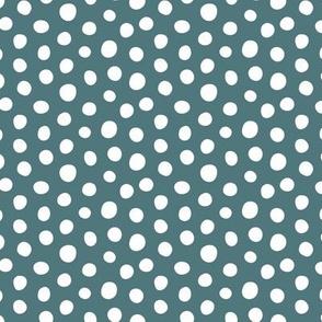Dots Teal - med