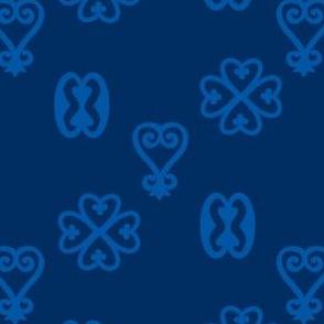 Adinkra blue-on-blue
