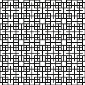 Geometric Black White_32b