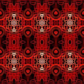 Crimson Tribal Batik