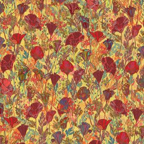 Remembering Poppies - Red & Gold