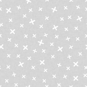 Cross (white on gray background)