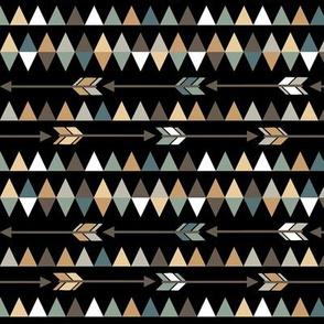 Arrows & triangles on black