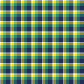 Green, Blue, and Yellow Plaid