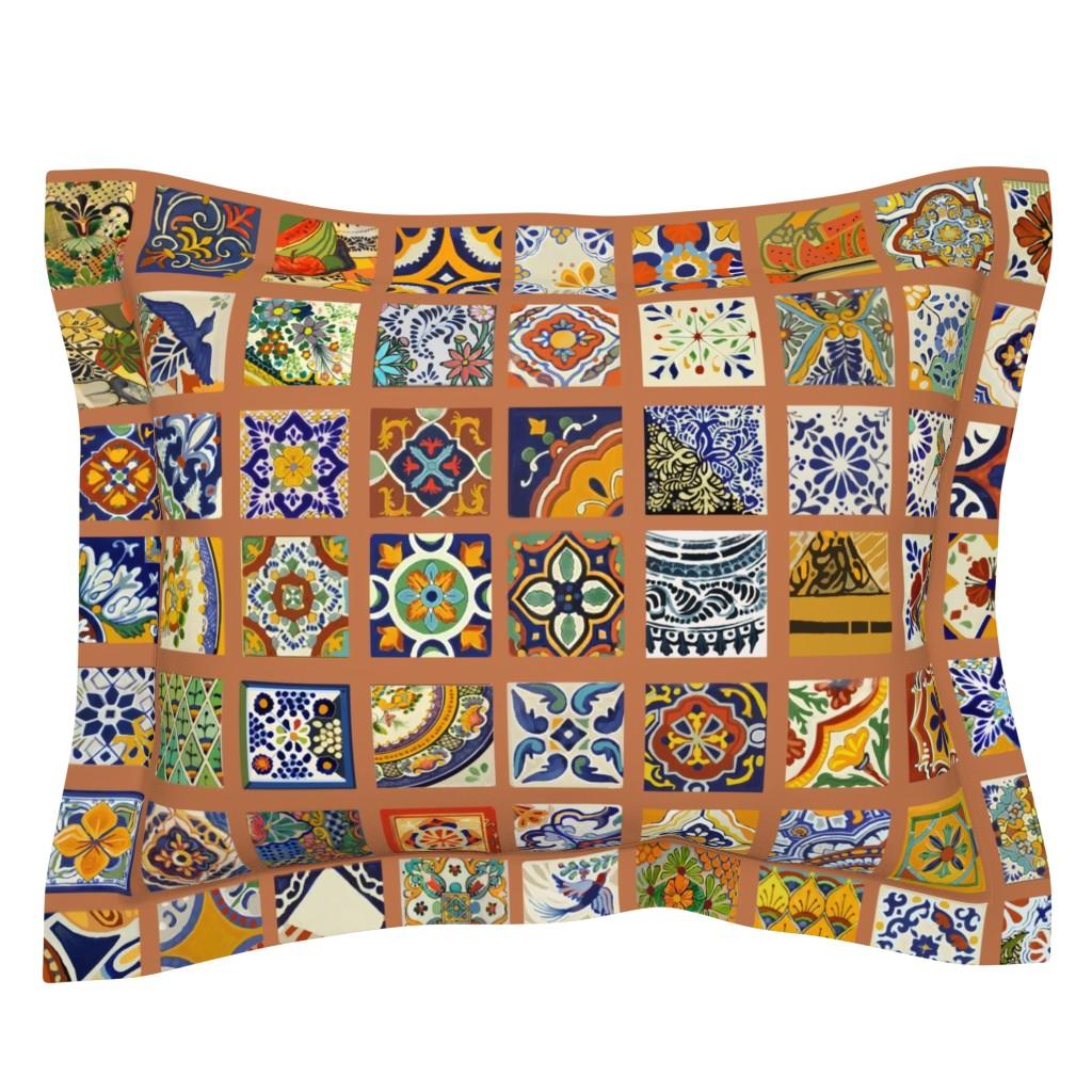 Sebright Pillow Sham featuring Talavera Mexican Tiles by wren_leyland