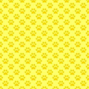 Yellow Paw Prints
