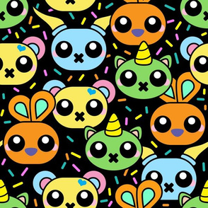 Monsters Black with colourful Sprinkles