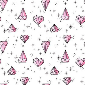 Jewels small // Pink with black outlines