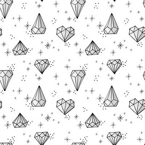 Jewels small // Grey with black outlines