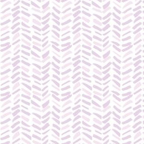 Small Painted Herringbone in Orchid