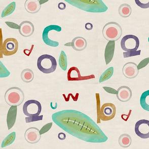 alphabet fabric