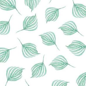 Swirling leaves | Dark sea green