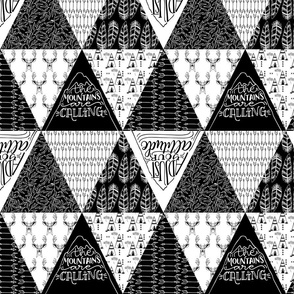 Mountains are calling // Black and white patterns