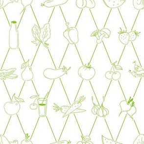 Food seamles pattern
