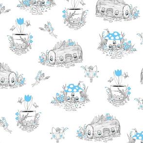 Fairy Village Blue