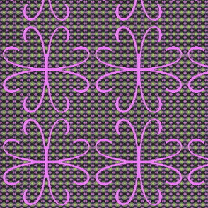 ARIES pink flower pattern - Debra Cortese Designs