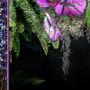 Pink Orchid Cascade - Debra Cortese Designs