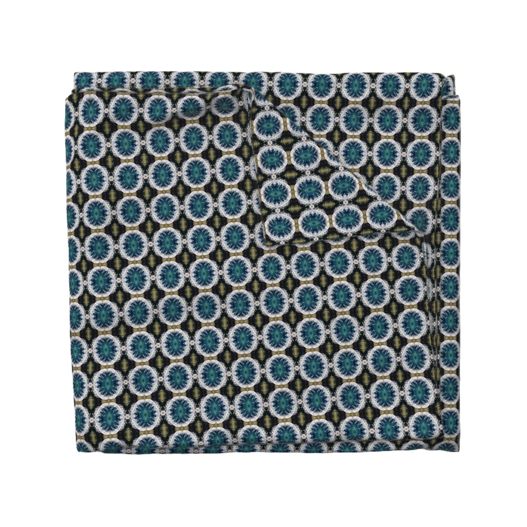 Wyandotte Duvet Cover featuring Ocean Blues Pattern - Debra Cortese Designs by debracortesedesigns