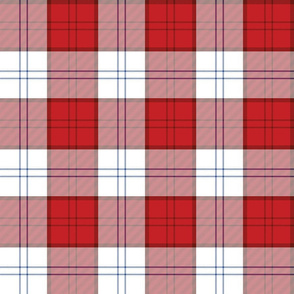 "Dress Red Lennox tartan, 6"" (Scottish version)"