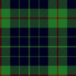 "Gunn tartan, 6"" black on green"