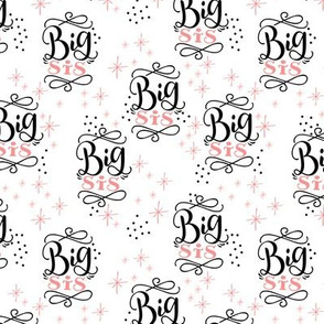 Big sis // Pink and black