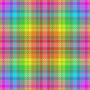 05579610 : tartan : 12 rainbow crayons