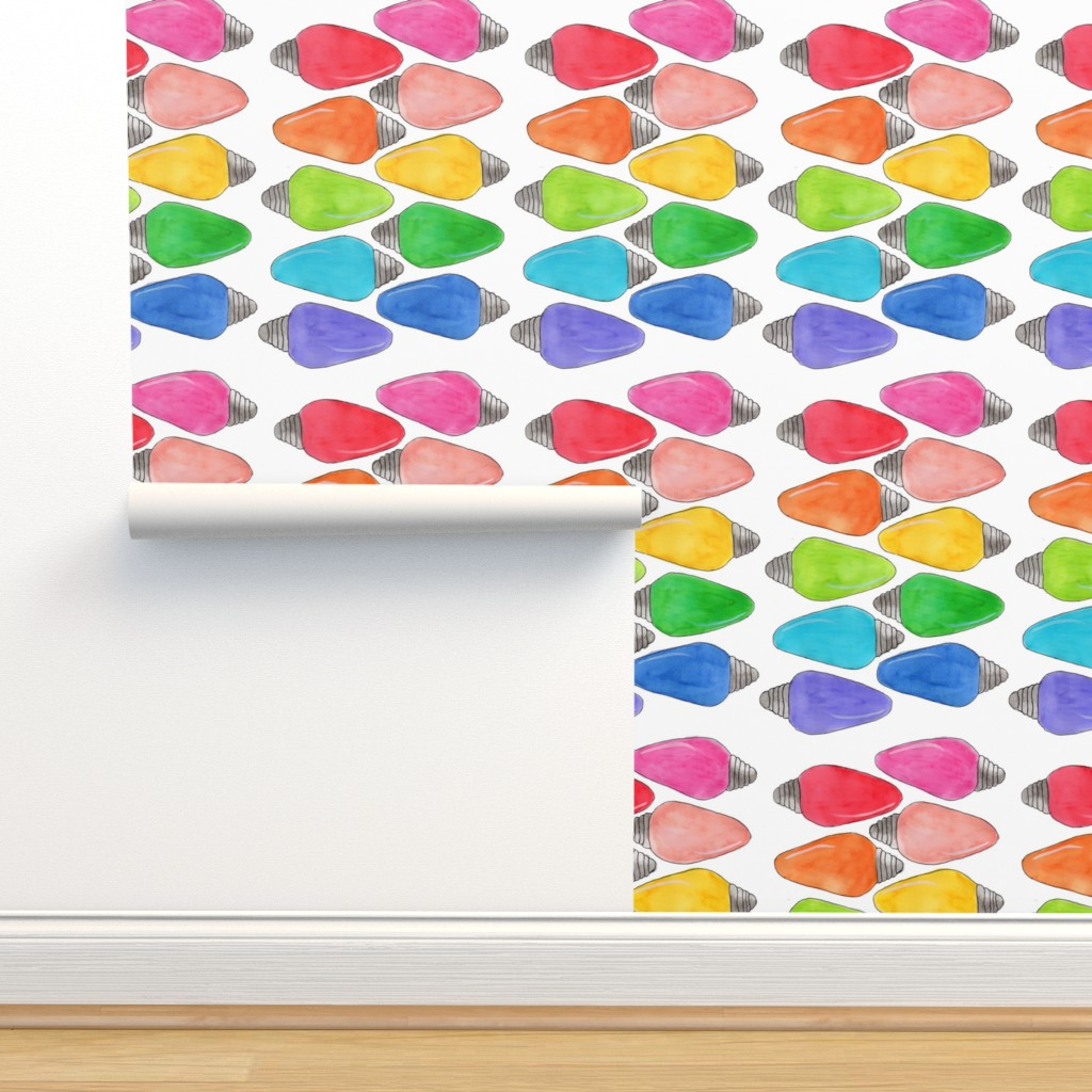 Isobar Durable Wallpaper featuring Color Bulbs by designergal