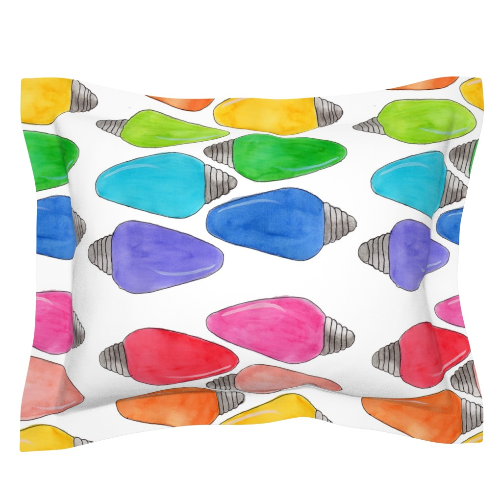 Sebright Pillow Sham featuring Color Bulbs by designergal